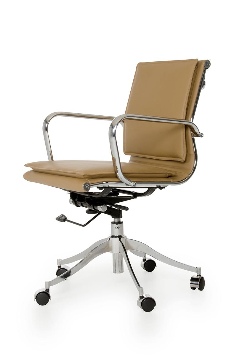 Modrest Mindie Modern Camel Low-back Office Chair