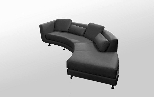Yil A95 Modern Black sectional sofa