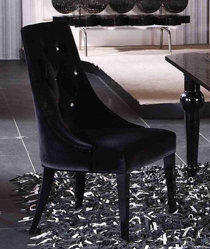 Armani Black Velour Chair