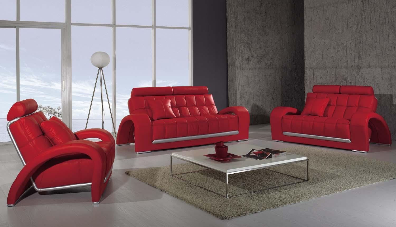 T 50 Modern Red Living Room Sofa Set