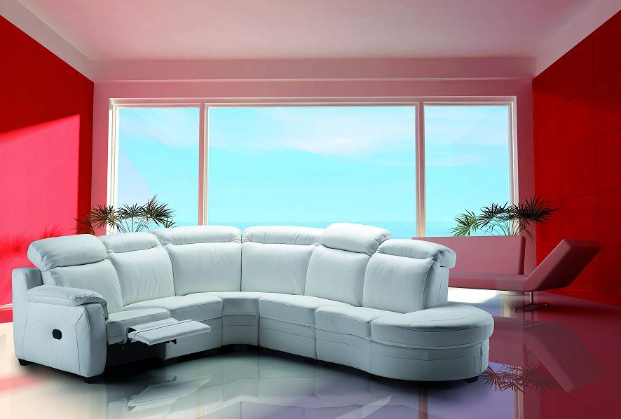 Karina Italian Leather Sectional Sofa