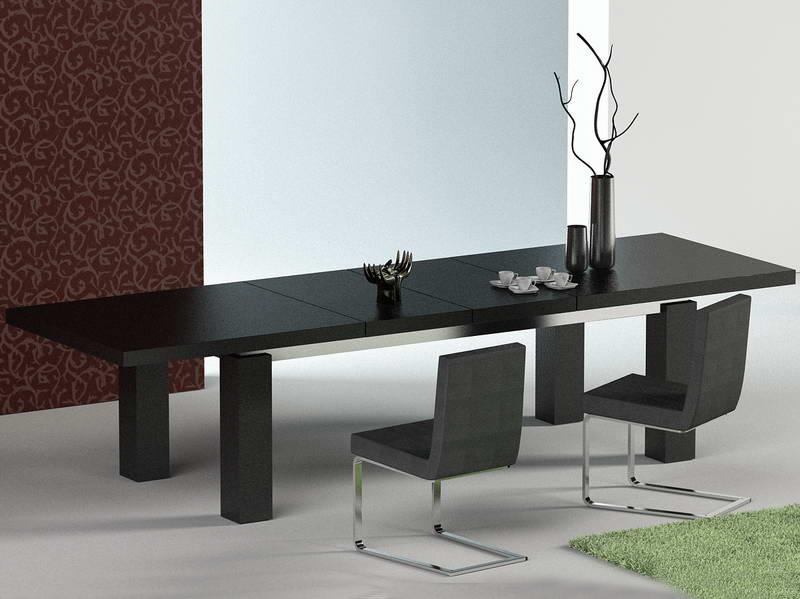Maxi Modern Dark Oak Dining Table