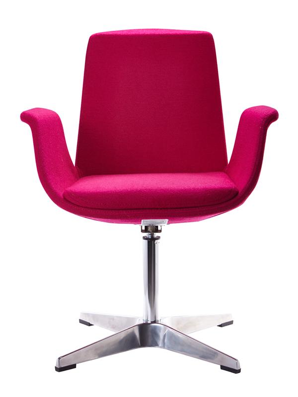 Modrest Dacia Modern Fuchsia Fabric Accent Chair