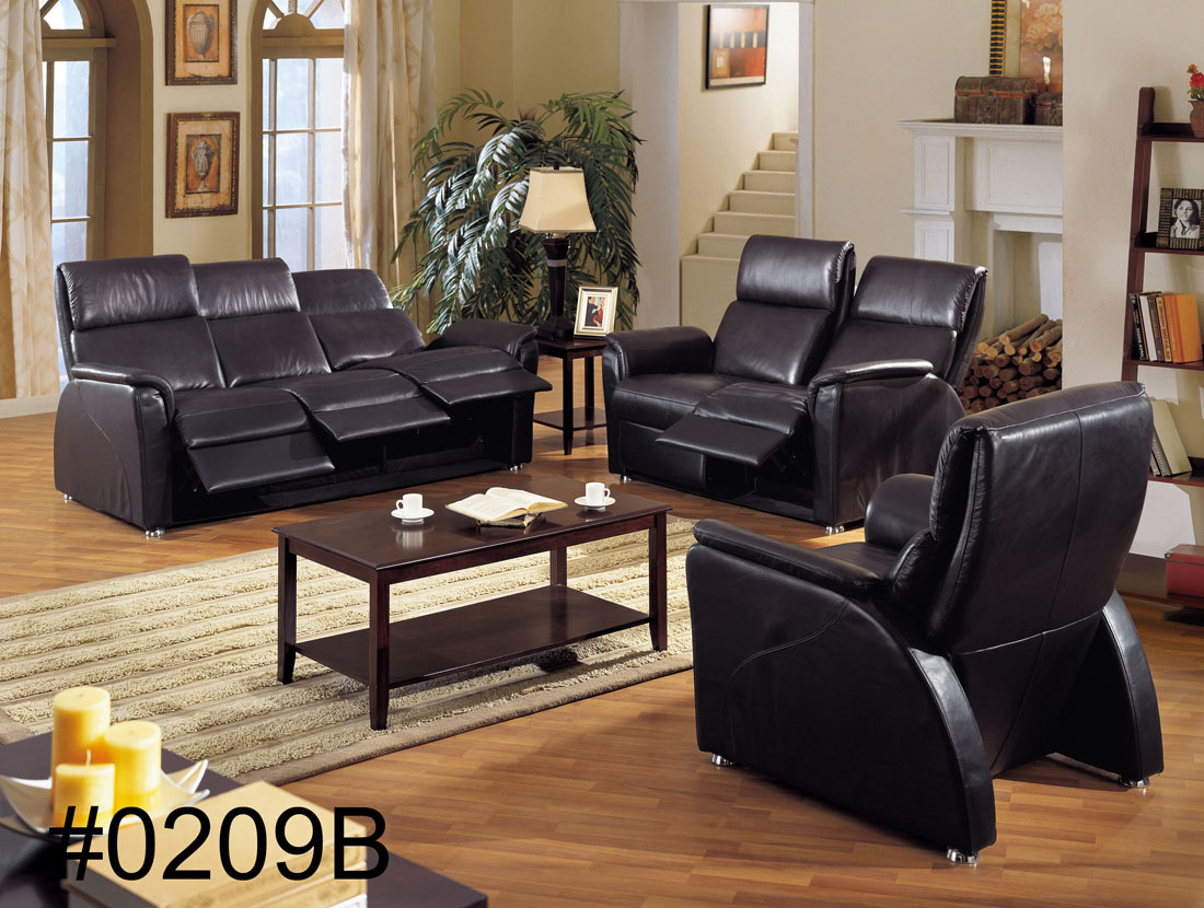 Black Leather Sectional Sofa with Recliners 1100 x 830