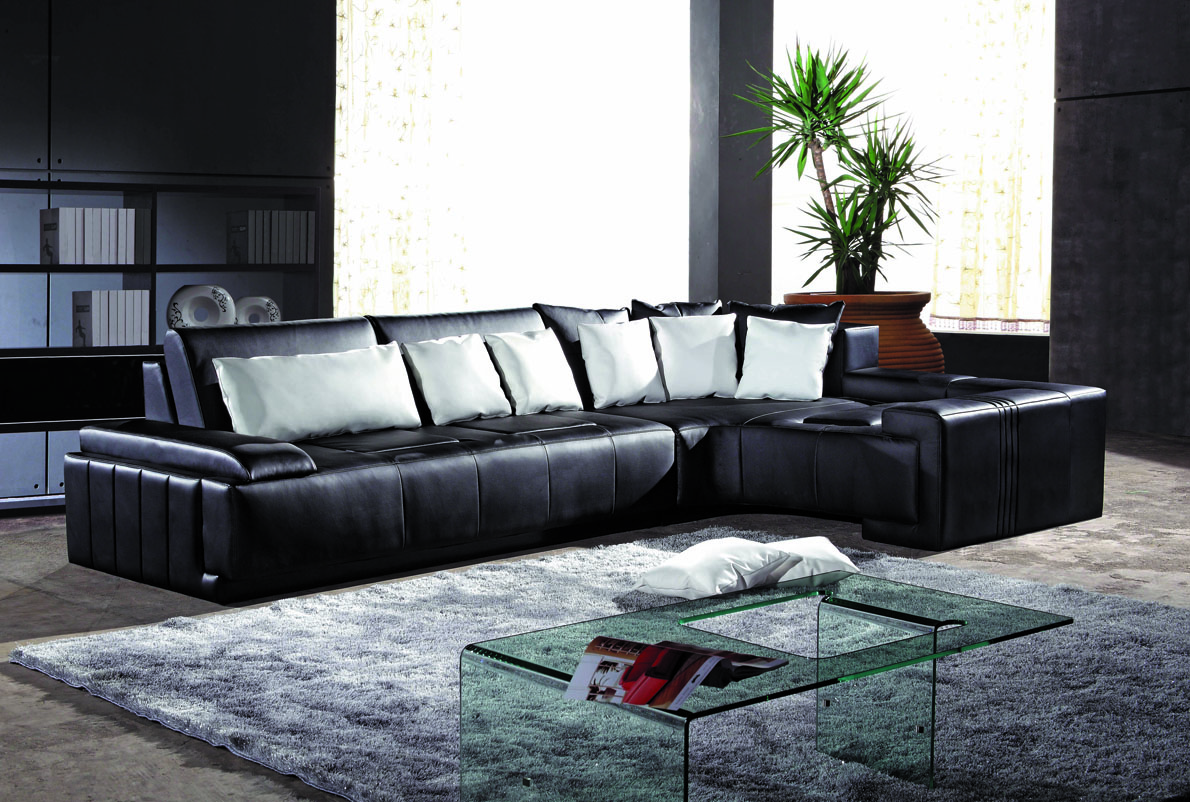 Ashley Tambo Polyester Reclining Sectional In Pewter