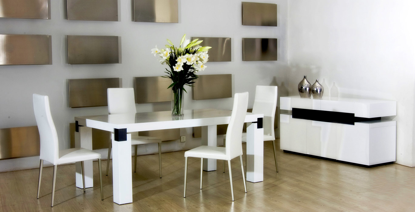 Great 616 White Dinning Table