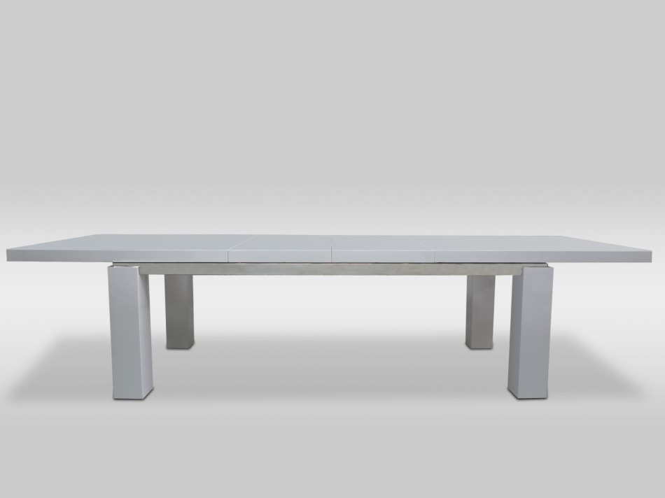 Maxi Modern White Lacquer Dining Table