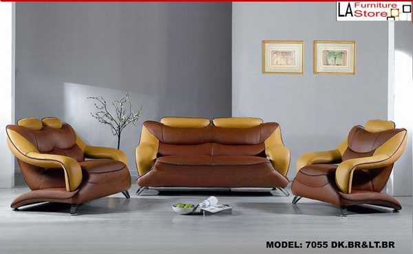 Living Room Furniture In Brown Color