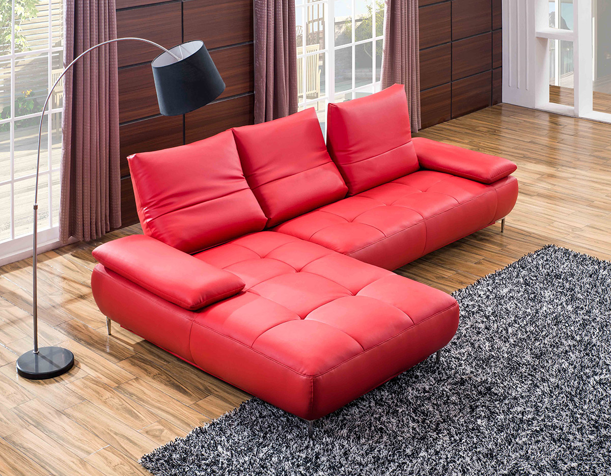 Red Leather Sectional Sofa Canada