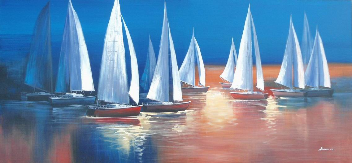 ADC8289 Sailboat Oil Painting On Canvas