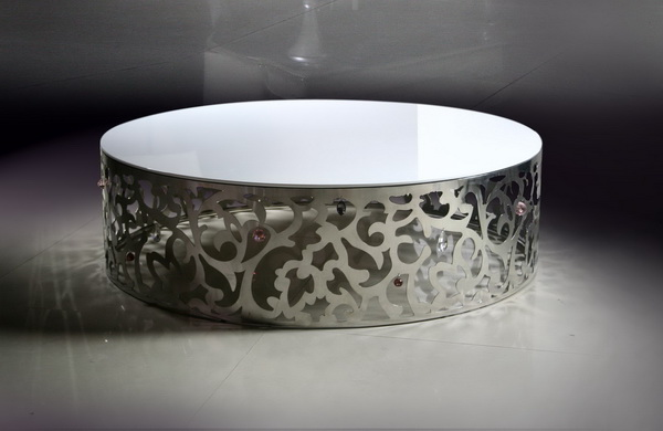 Lovely One Such Product Is The 840 Stainless Steel Coffee Table With Artificial  Diamonds. Flower Patterned, This Stainless Steel Coffee Table Has A  Polished Top ...