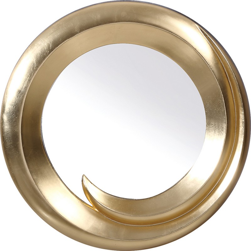 PU057 Transitional Gold Round Wall Mirror Product Picture 2050