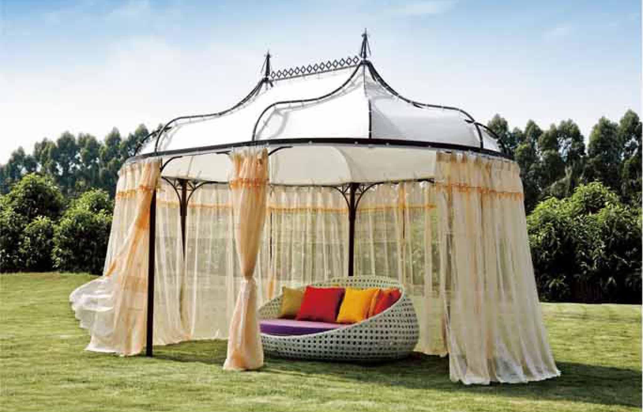 S3056 Modern Patio Round Bed