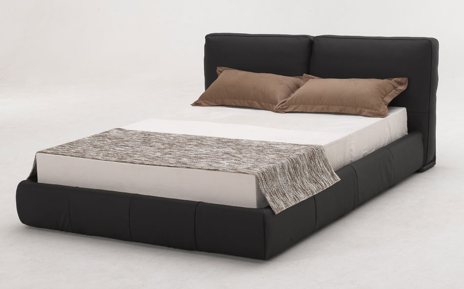 B88 Black Full Leather Bed