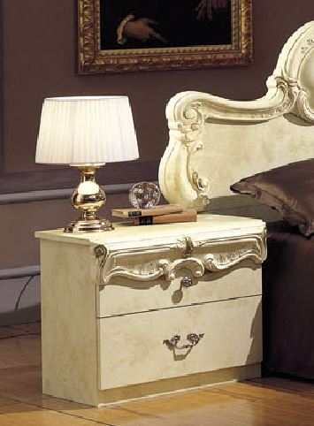 Barocco Traditional Glossy Ivory Nightstand Product Image 2050