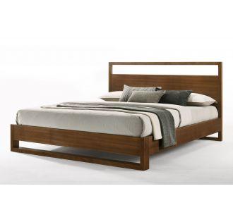 Nova Domus Berlin - Modern Walnut Bed