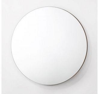 Modrest Paula - Mid-Century Round Walnut Mirror