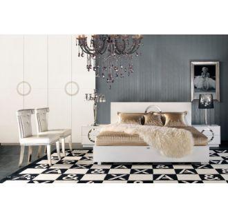 A&X Ovidius - Modern White Crocodile Bedroom Set