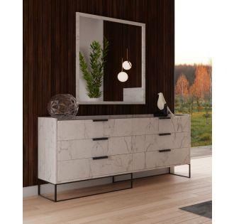 Nova Domus Marbella - Italian Modern White Marble Dresser