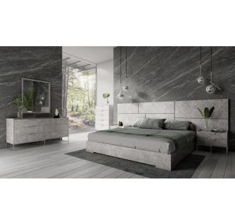 Nova Domus Marbella - Italian Modern Grey Bed Set