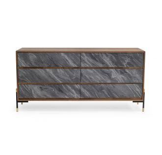 Nova Domus Metcalf - Mid-Century Walnut & Grey Dresser