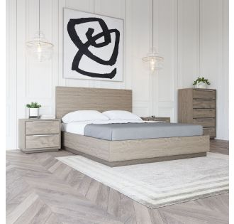 Modrest Samson - Contemporary Grey and Silver Bed