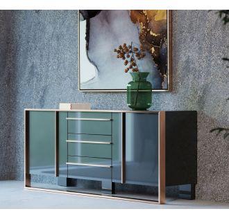 Nova Domus Cartier Modern Black & Rosegold Buffet