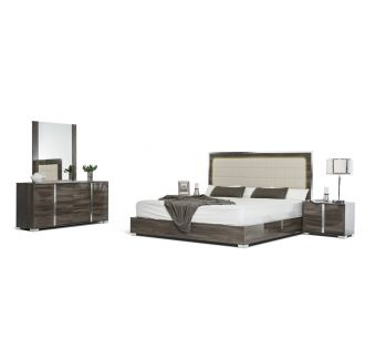 Modrest San Marino Modern Grey Bedroom Set