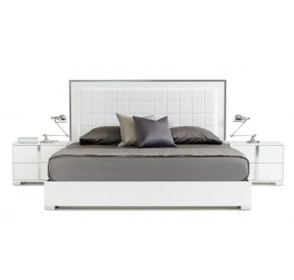 Modrest San Marino Modern White Bed