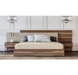 Nova Domus Matteo - Italian Modern Walnut & Fabric Bed