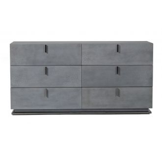 Modrest Buckley - Modern Grey Crackle Dresser