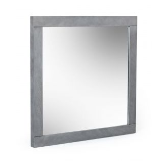 Modrest Buckley - Modern Grey Crackle Mirror