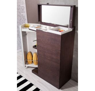 Modrest Gamma Torino - Modern 2-Tone Oak 4-Drawer Multi-Chest