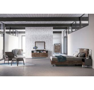 Modrest Wharton Modern Dark Aged Oak Bedroom Set