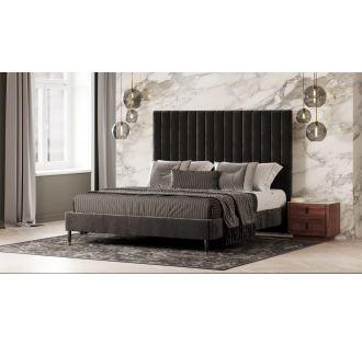 Modrest Hemlock Modern Grey Velvet Bed