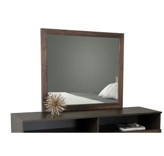 Modrest Wharton Modern Dark Aged Oak Mirror