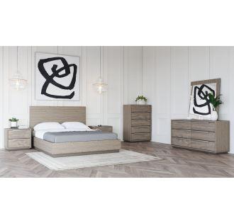 Modrest Samson - Contemporary Grey & Silver Bedroom Set