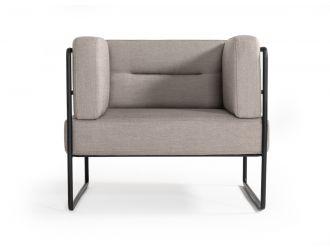 Modrest Norman Modern Grey Fabric Lounge Chair