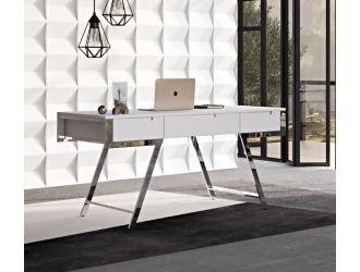 Modrest Dessart Modern White Gloss Office Desk