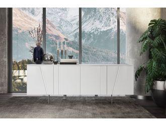 Modrest Mario - Modern White Veneer Buffet