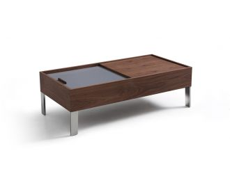 Modrest Gunnar Modern Walnut & Grey Coffee Table