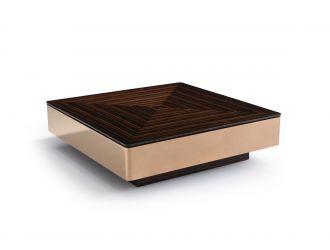 Modrest Larice Modern Square Ebony & Rosegold Coffee Table