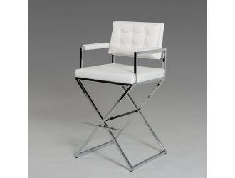 Modrest Coppola Modern White Leatherette Bar Stool