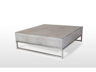 Modrest Drake Modern Square Concrete Coffee Table