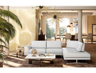 Accenti Italia Bellagio - Italian Modern White Leather Right Facing Sectional Sofa