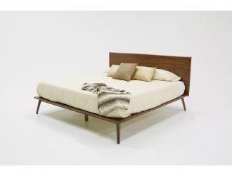 Modrest Carmen Mid-Century Modern Walnut Bed