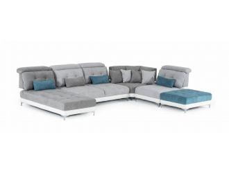 David Ferrari Jive - Italian Modern Medium Grey Fabric U Shaped Configurable Sectional Sofa
