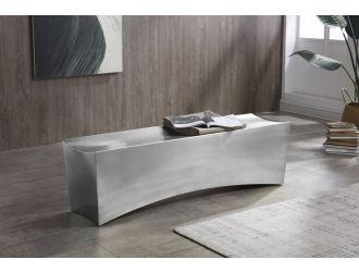 Modrest Modern - Anvil Rectangular Brushed Stainless Steel Bench