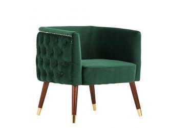 Modrest Bethel Modern Green Velvet Accent Chair