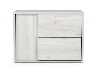 Nova Domus Asus - Italian Modern White Washed Oak Nightstand